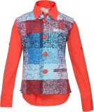 OKS Boys Boys Casual Shirt Jacket (Red)
