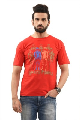 TSG Breeze Printed Men's Round Neck Red T-Shirt
