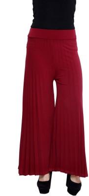 Rampwalk Regular Fit Women's Maroon Trousers