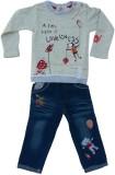 Kuddle Kid Girls Casual T-shirt (Multico...