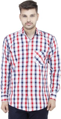 Movitex Men's Checkered Casual Reversible Red, Blue Shirt