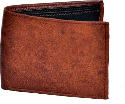 Domestiq Men Formal Brown Genuine Leather Wallet