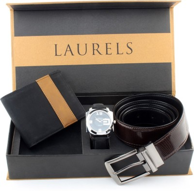 Laurels Wrist Watch Men,s  Combo