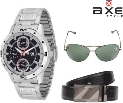 Axe Style Wrist Watch Men's  Combo