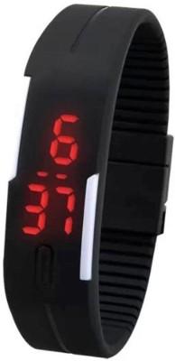 KMS Megnet_Led_Sport_BlackWhite1 Digital Watch  - For Men, Women, Boys, Girls
