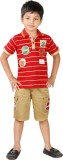 RGT Boys Casual T-shirt Shorts (Red)
