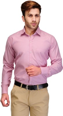 Koolpals Mens Solid Formal Pink Shirt