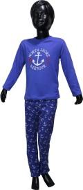 Starsy Boys Casual T-shirt Pant(Multicolor)