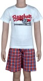 Spictex Boys Casual T-shirt Shorts (Whit...