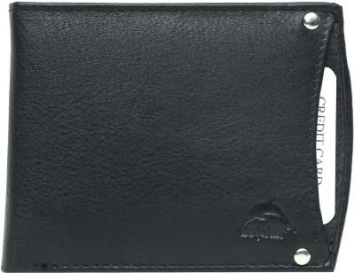 New Dolphin Men Black Genuine Leather Wallet