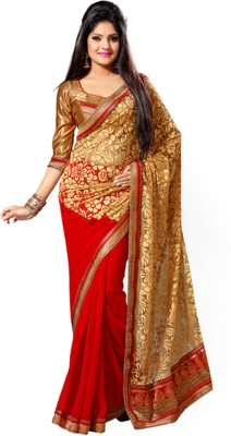 Kiran Saree Self Design Bollywood Brasso Sari