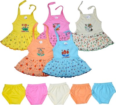 Sathiyas Baby Girls Dresses(Multicolor)