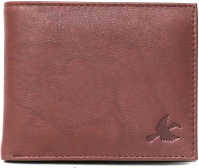 Hornbull Men Maroon Genuine Leather Wallet