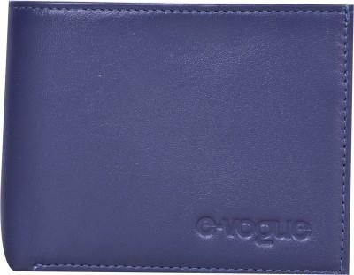 E-Vogue Men Blue Genuine Leather Wallet
