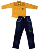 Color Kids Boys Shirt T-shirt (Yellow)