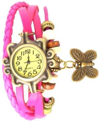 Designculture dgcVINTAGE-D.Pink Vintage butterfly Analog Watch  - For Girls