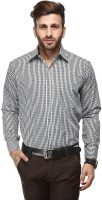Koolpals Formal Shirts (Men's) - Koolpals Men's Checkered Formal Black Shirt