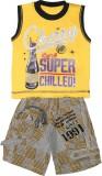 Littlelife Boys Casual T-shirt Pant (Gol...