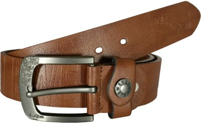 Fusion Kalewensen Men Casual, Party, Evening Tan Artificial Leather Belt