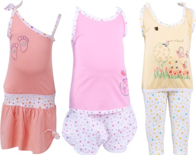 Jo Kidswear T-shirt Baby Girl's  Combo