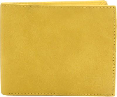 Gansta Men Casual, Formal Yellow Artificial Leather Wallet