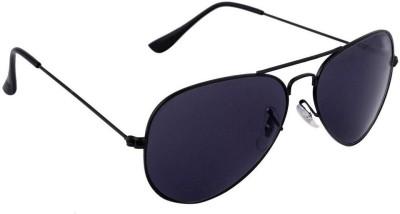 Agera Agera AG1001 Full black aviator sunglass Aviator Sunglasses(Black)