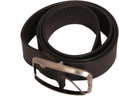 Wallmen Men, Boys Formal Black Genuine Leather Belt