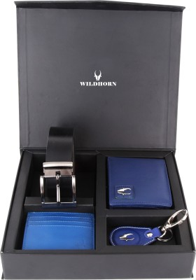 WildHorn Men, Women Casual, Formal Blue, Black Genuine Leather Wallet