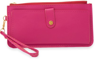 SkyWays Women Casual, Formal Pink Artificial Leather Wallet