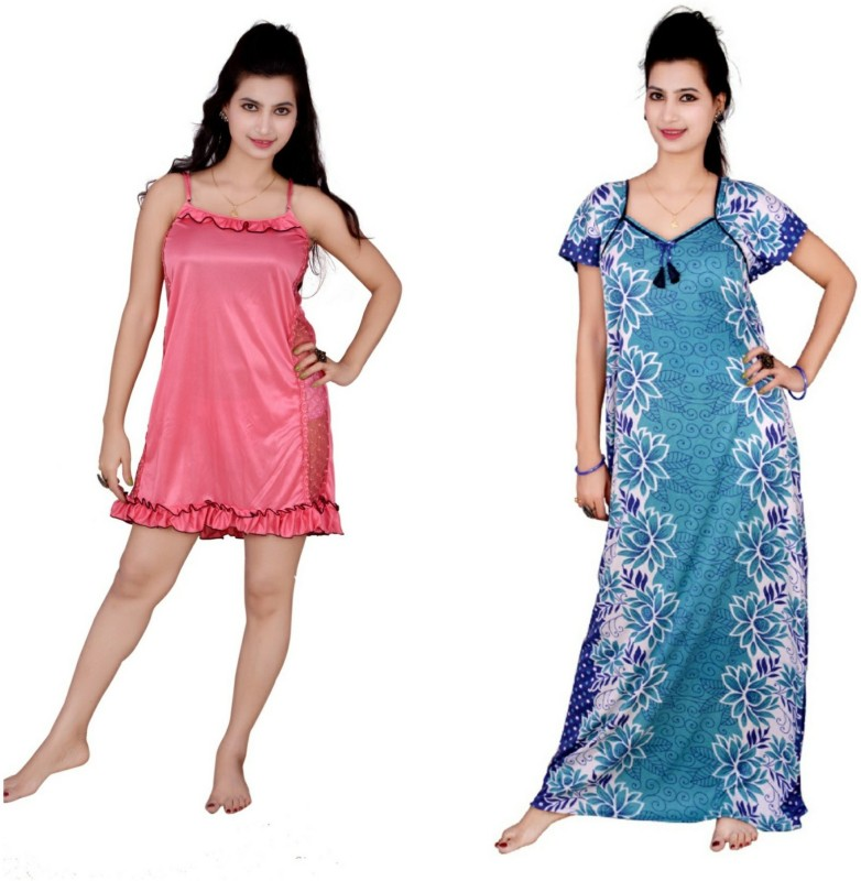 Kismat Fashion Nighty Women's  Combo