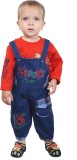 Ahhaaaa Boys Dungaree T-shirt (Red)