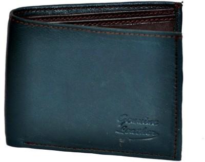 Domestiq Men Formal Blue Genuine Leather Wallet