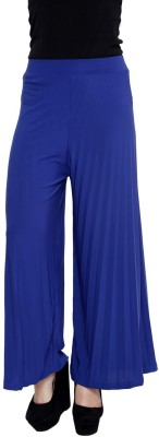 Rampwalk Regular Fit Women's Blue Trousers