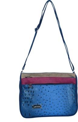 Kshipra Fashion Girls, Women Grey, Purple, Blue Leatherette Sling Bag