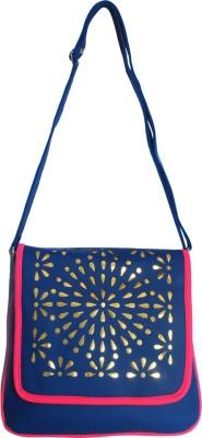Kshipra Fashion Girls, Women Blue, Pink Leatherette Sling Bag