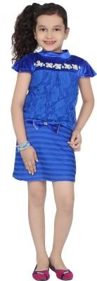 Be Kids Girl's Sheath Blue Dress