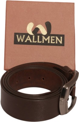 Wallmen Men, Boys Party Black, Brown Genuine Leather Belt