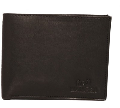 Wallmen Men, Boys Travel Black Genuine Leather Wallet