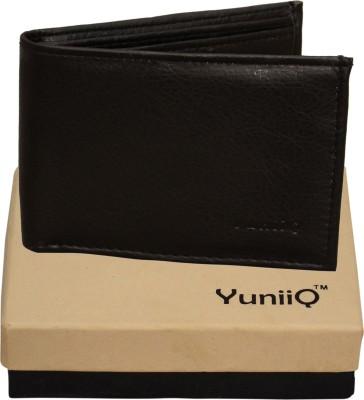 YuniiQ Men Black Artificial Leather Wallet