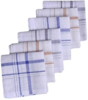 S4S Men's Striped Handkerchief(Pack of 6)