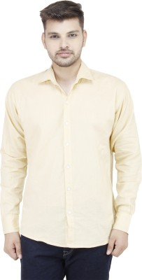 Movitex Men's Solid Casual Reversible Beige Shirt