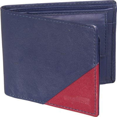 Spairow Men Blue Genuine Leather Wallet
