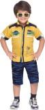 AJ Dezines Boys Shirt Shorts (Yellow)