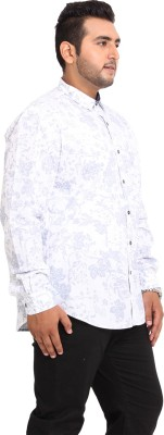 John Pride Men's Printed Casual White Shirt