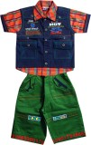 Gowri Online Boys Dress (Dark Blue)