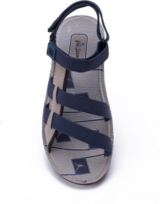 Pu Street Men Blue, Beige Sandals