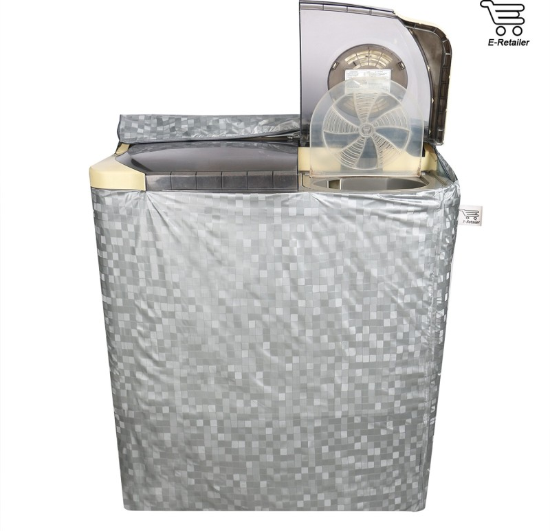 E-Retailer Washing Machine Cover(Silver)