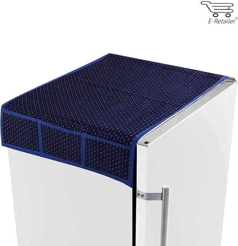 E-Retailer Refrigerator Cover(Blue)