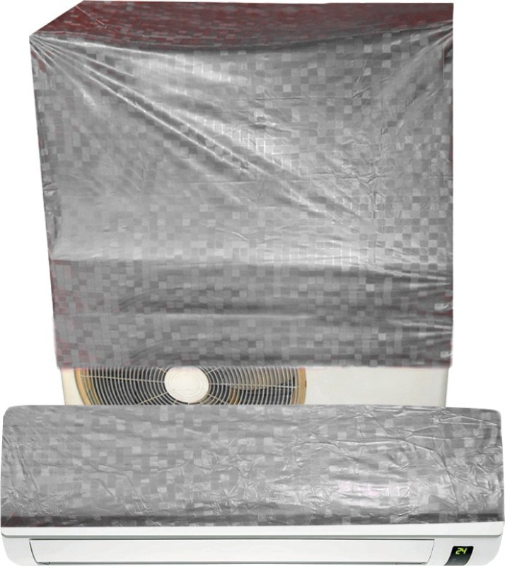 E-Retailer Air Conditioner Cover(Silver)