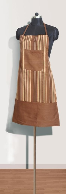 Swayam Cotton Apron Free Size(Brown, Single Piece)